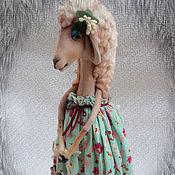 Куклы и игрушки ручной работы. Ярмарка Мастеров - ручная работа Текстильная интерьерная  овечка. Handmade.