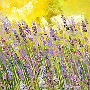 Картины и панно handmade. Livemaster - original item Oil painting on canvas. Lavender in the field.. Handmade.