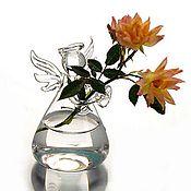 Материалы для творчества ручной работы. Ярмарка Мастеров - ручная работа Вазочка-ангел стекло. Handmade.
