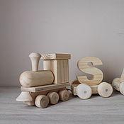 Куклы и игрушки ручной работы. Ярмарка Мастеров - ручная работа Деревянный поезд с именем. Handmade.