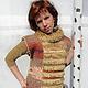 Vests handmade. Vest with 'fur' collar. Elena Abo. Online shopping on My Livemaster. Autumn, warm vest