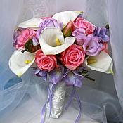 Цветы и флористика ручной работы. Ярмарка Мастеров - ручная работа Свадебный букет из полимерной глины. Handmade.