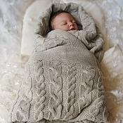 """Для дома и интерьера ручной работы. Ярмарка Мастеров - ручная работа Плед """"Жемчужные сны малыша"""". Handmade."""