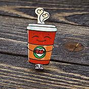Украшения handmade. Livemaster - original item Wooden icon Delicious Coffee. Handmade.