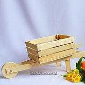 Корзины ручной работы. Ярмарка Мастеров - ручная работа Телега  из дерева, 2 размера. Handmade.