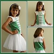 Одежда ручной работы. Ярмарка Мастеров - ручная работа топ для девочки. Handmade.