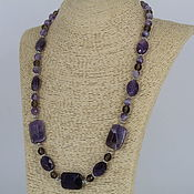 Украшения handmade. Livemaster - original item Necklaces of amethyst and Topaz