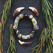 """Украшения ручной работы. Ярмарка Мастеров - ручная работа Браслет """"Berber"""" агат, африканские бусины Кробо.. Handmade."""