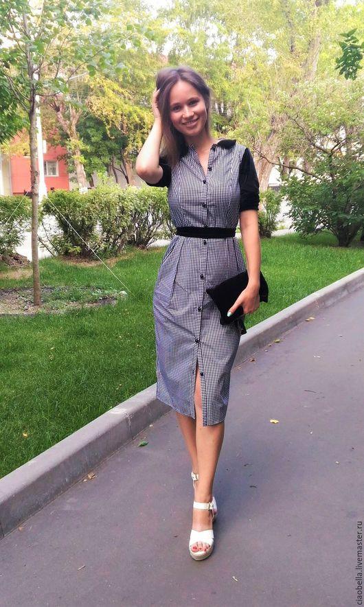 """Платья ручной работы. Ярмарка Мастеров - ручная работа. Купить Платье """"Lora"""". Handmade. Черный, платье по колено, платья для офиса"""