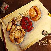 Картины и панно handmade. Livemaster - original item Painting drawing graphics SUMMER. Cottage. THE GUESTS ARRIVED.. Handmade.
