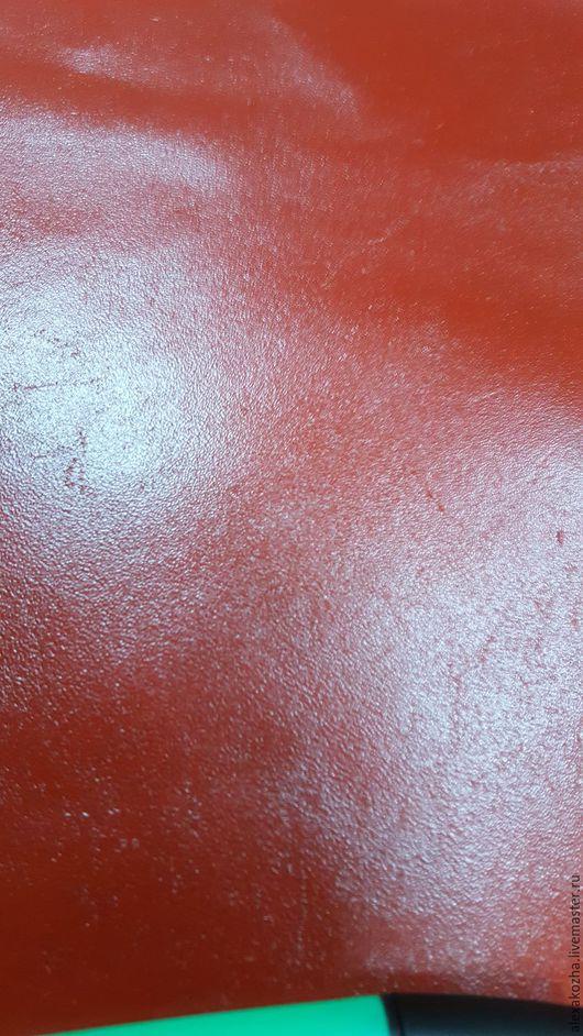 Шитье ручной работы. Ярмарка Мастеров - ручная работа. Купить Кожа натуральная Спилок КС Красный. Handmade. Кожа натуральная