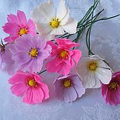 Цветы и флористика ручной работы. Ярмарка Мастеров - ручная работа Яркие цветы Космеи. Handmade.