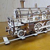 Куклы и игрушки ручной работы. Ярмарка Мастеров - ручная работа 3D-конструктор «Паровоз HB184». Handmade.