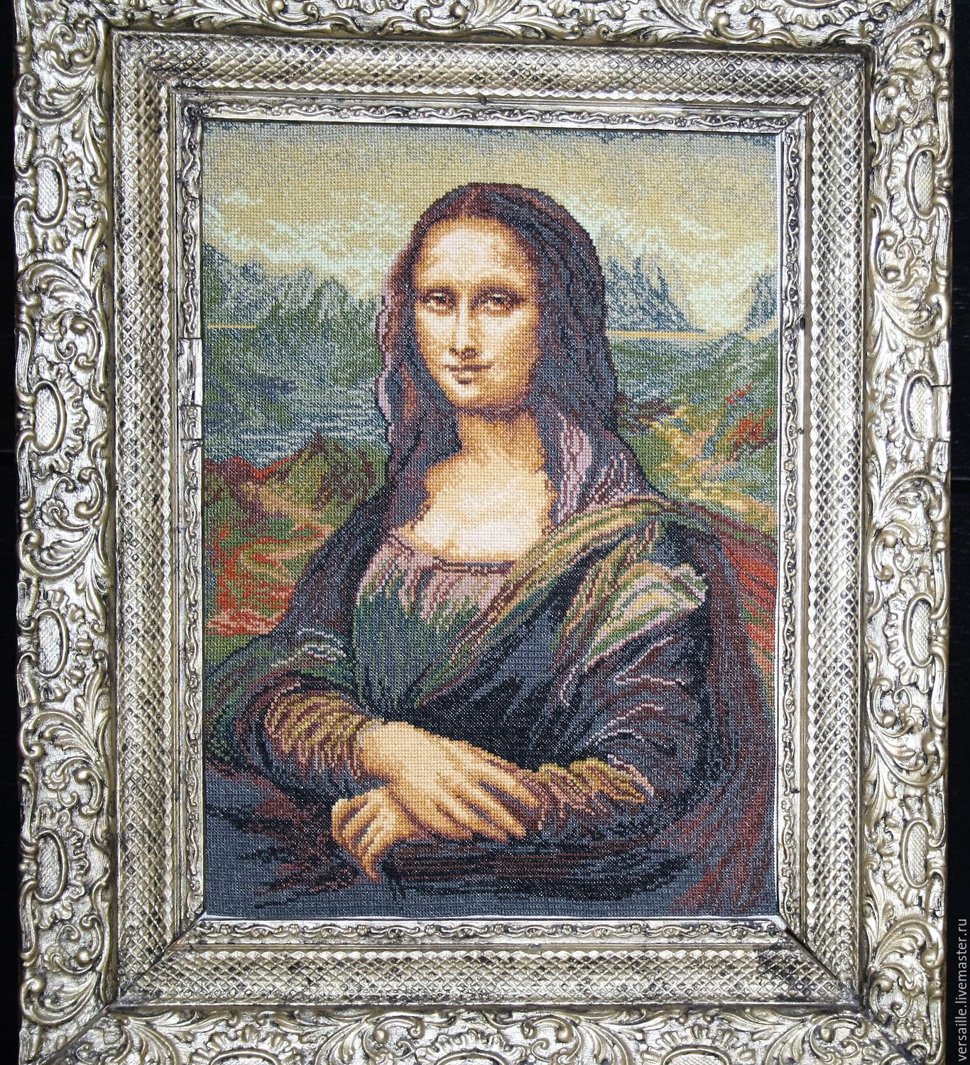 """Embroidered painting """"Mona Lisa"""", Pictures, St. Petersburg,  Фото №1"""