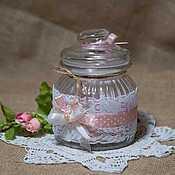 Подарки к праздникам ручной работы. Ярмарка Мастеров - ручная работа Банка винтаж для сладостей. Handmade.