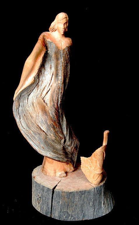 """Статуэтки ручной работы. Ярмарка Мастеров - ручная работа. Купить """"Осень"""" (скульптурная композиция). Handmade. Резьба по дереву, статуэтка"""