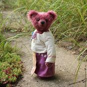 Куклы и игрушки ручной работы. Ярмарка Мастеров - ручная работа Авторская мишка Зоя  (Летом на даче...). Handmade.