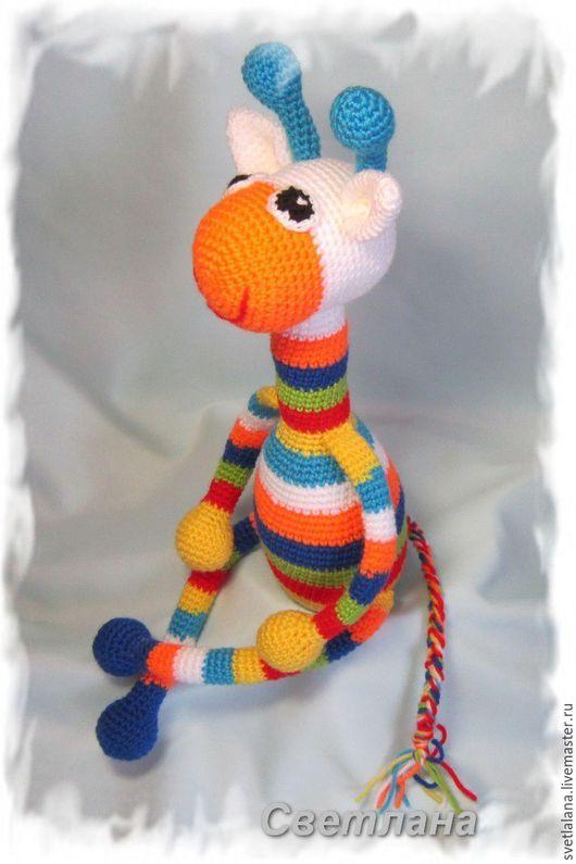 Игрушки животные, ручной работы. Ярмарка Мастеров - ручная работа. Купить Радужный жираф. Handmade. Комбинированный, радужный, подарок ребенку
