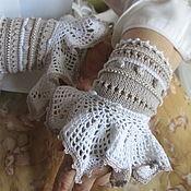 Аксессуары handmade. Livemaster - original item Mitts: Hand-made cotton mitts and cuffs. Handmade.