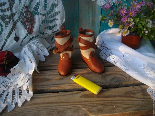 Одежда для кукол ручной работы. Ярмарка Мастеров - ручная работа. Купить Сапожки в стиле бохо.. Handmade. Коричневый, авторская работа