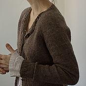 Cardigans handmade. Livemaster - original item Jacket wool knit Truffle, warm and soft, Irish yarn. Handmade.