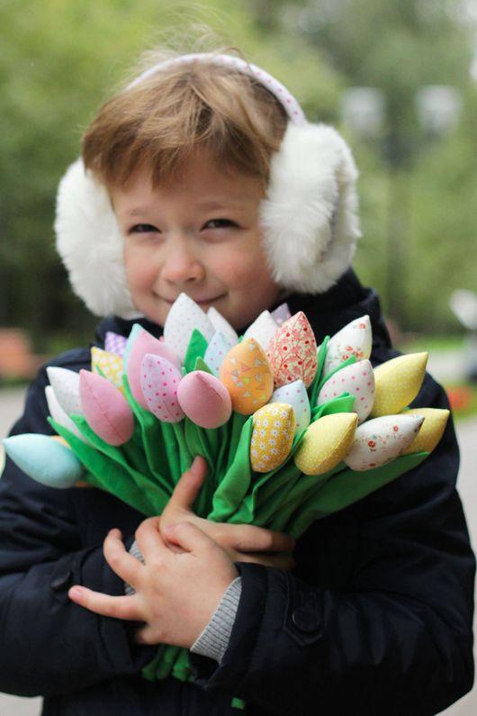 Цветы ручной работы. Ярмарка Мастеров - ручная работа. Купить Тюльпаны. Handmade. Цветы из ткани, тюльпаны из ткани, синтепух