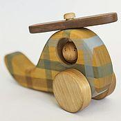Куклы и игрушки ручной работы. Ярмарка Мастеров - ручная работа Вертолет в клетку - деревянная игрушка. Handmade.