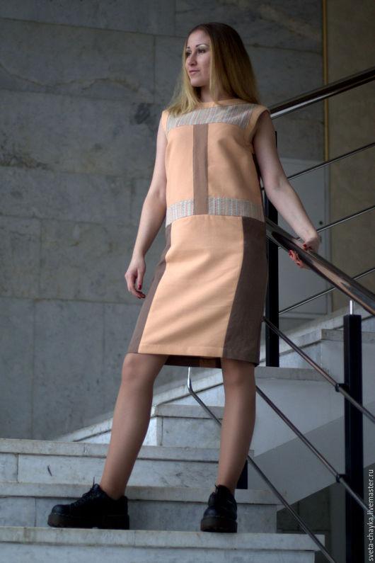 Платья ручной работы. Ярмарка Мастеров - ручная работа. Купить Платье платье из смесовых тканей платье в пастельных тонах. Handmade.