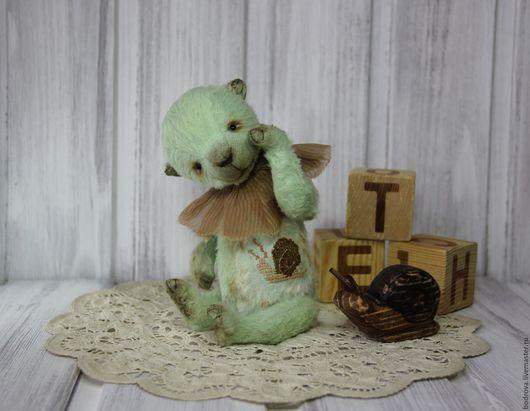 Мишки Тедди ручной работы. Ярмарка Мастеров - ручная работа. Купить Улиткин и Уля. Handmade. Мятный, вышивка, каучуковый гранулят