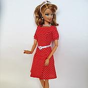 Куклы и игрушки ручной работы. Ярмарка Мастеров - ручная работа Красное платье в горошек. Handmade.