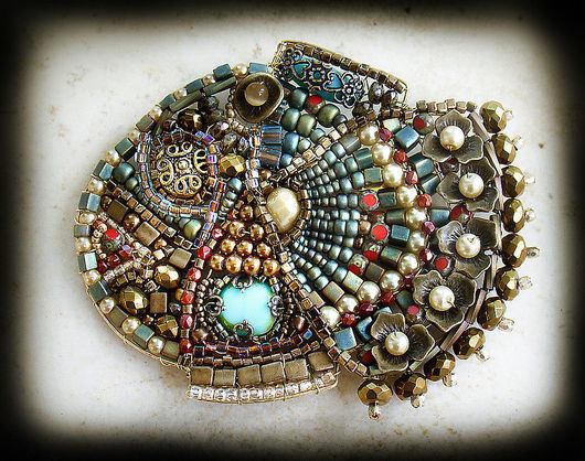 Brooches handmade. Livemaster - handmade. Buy Brooch 'Fish happy'.Gold, gift, beads, beads, wire, metal, gold, plastic