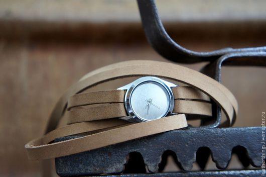 "Часы ручной работы. Ярмарка Мастеров - ручная работа. Купить Часы ""Зеркало"". Handmade. Нвтуральная кожа, часики, часы на заказ"