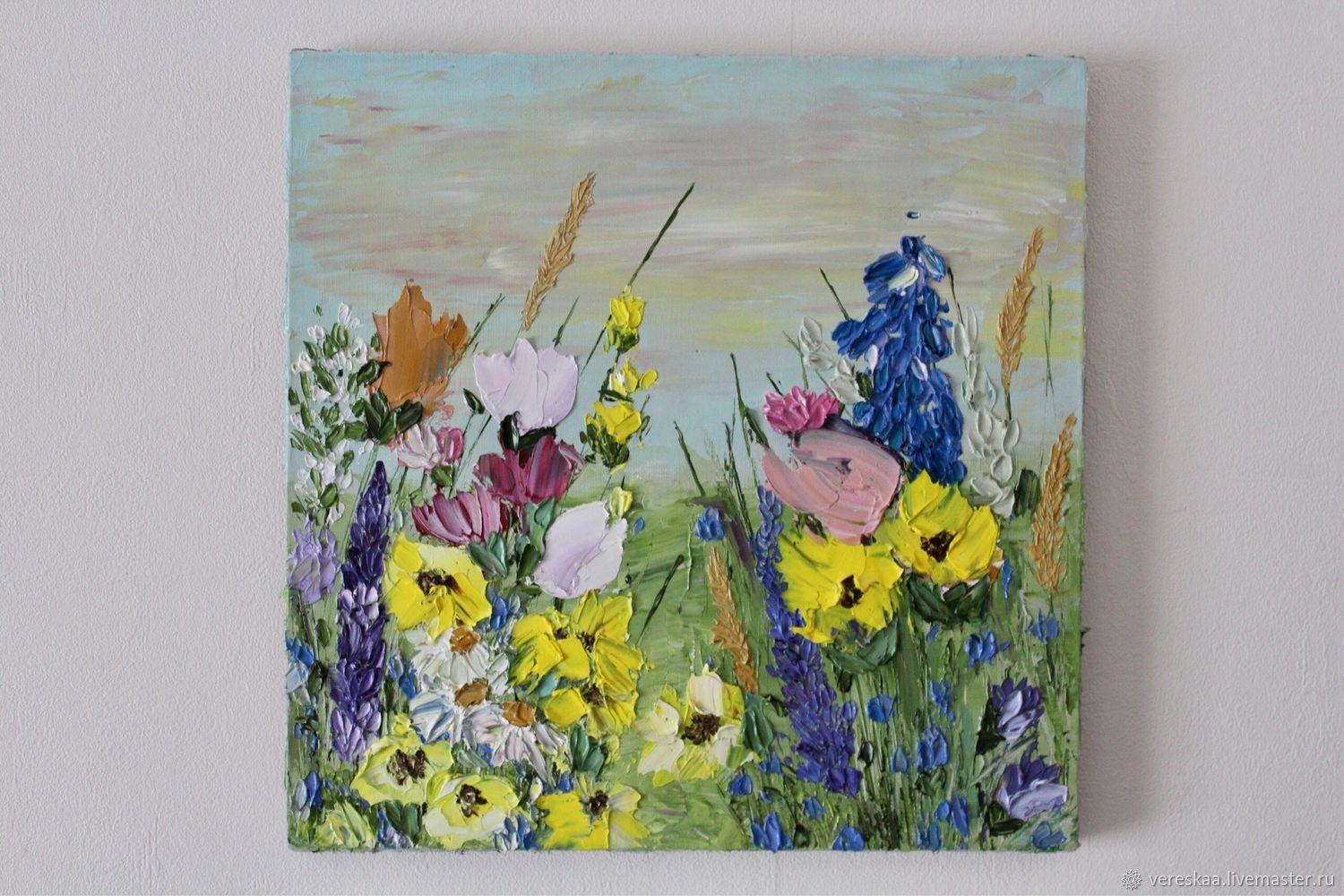 Bright wild flowers sunrise buy painting yellow, Pictures, Chelyabinsk,  Фото №1