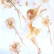Картины и панно handmade. Livemaster - original item Flying - painting with watercolors. Handmade.