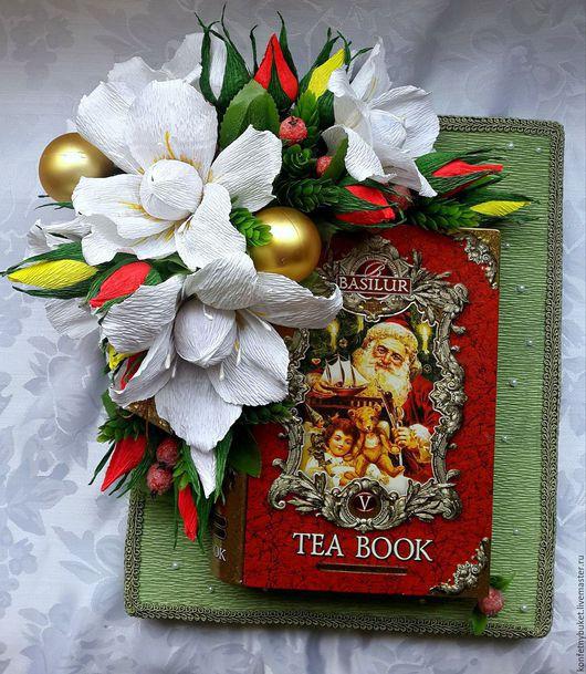 """Букеты ручной работы. Ярмарка Мастеров - ручная работа. Купить Подарочное оформление чая """" Праздничный"""". Handmade. Разноцветный, подарок"""
