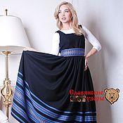 Одежда handmade. Livemaster - original item Sundress Lyubava black. Handmade.
