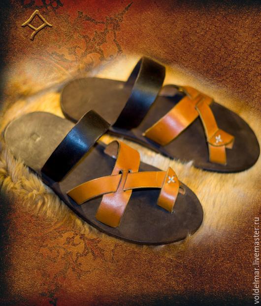 Обувь ручной работы. Ярмарка Мастеров - ручная работа. Купить Кожаные сандалии. Handmade. Разноцветный, обувь ручной работы