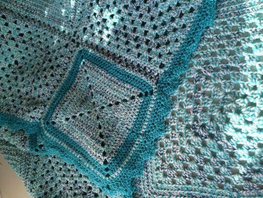 Текстиль, ковры ручной работы. Ярмарка Мастеров - ручная работа. Купить Плед вязаный спицами на заказ.. Handmade. Плед спицами