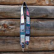 Аксессуары handmade. Livemaster - original item Belt for the camera denim. Patchwork bag strap.. Handmade.