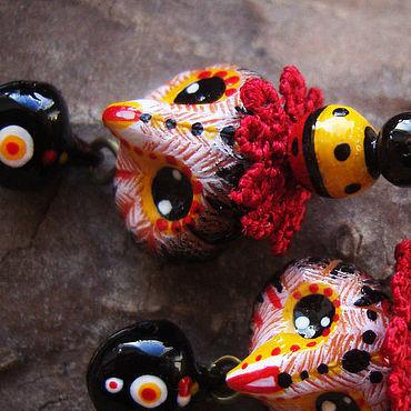 """Украшения ручной работы. Ярмарка Мастеров - ручная работа """"Чародейские совушки"""", сказочные серьги. Handmade."""