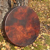 Музыкальные инструменты handmade. Livemaster - original item Tambourine shaman leather deep 60 cm.. Handmade.