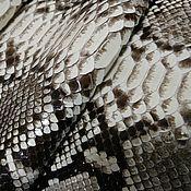 Материалы для творчества handmade. Livemaster - original item Python leather, glossy finish, clothing dressing, natural color.. Handmade.