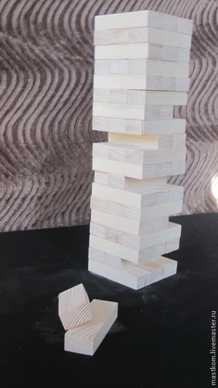 """Развивающие игрушки ручной работы. Ярмарка Мастеров - ручная работа. Купить """"Башня"""" (""""Дженга"""") - набор для игры.. Handmade. Бежевый, дженга"""