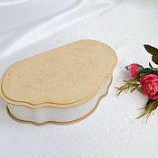 Материалы для творчества handmade. Livemaster - original item MDF scallop box, blank for painting and decoration. Handmade.
