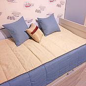 Для дома и интерьера ручной работы. Ярмарка Мастеров - ручная работа Детское покрывало с подушками. Handmade.