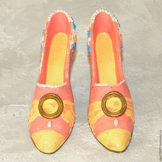 Винтажные предметы интерьера. Ярмарка Мастеров - ручная работа. Купить Винтажная коллекционная туфелька. Handmade. Коралловый, полистоун