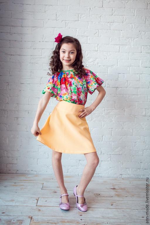 Одежда для девочек, ручной работы. Ярмарка Мастеров - ручная работа. Купить Юбка (Арт.: Д-20d ) и Туника (Арт.: Д-22). Handmade.