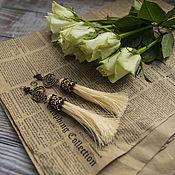 Украшения ручной работы. Ярмарка Мастеров - ручная работа Серьги кисти. Handmade.