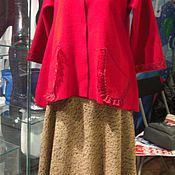 Одежда ручной работы. Ярмарка Мастеров - ручная работа пиджак женский/кардиган женский/ пиджак красный/пиджак из шерсти. Handmade.