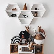 Для дома и интерьера handmade. Livemaster - original item Shelves honeycomb wall white buy. Handmade.